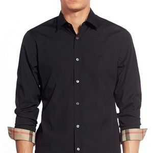 Burberry Brit men's Henry check long sleeve shirt